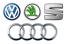 VW Group brand logos