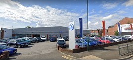 The existing Volkswagen UK franchised car dealership on Manchester Road, Oldham