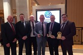 Swansway awards success (left to right): Paul Hoinville, head of business VW Van Centre Lancashire; Kevin Brown, head of business, VW Van Centre Birmingham; Alan Austin, head of business, VW Van Centre Wrexham; Peter Smyth, director Swansway Group; David Cowan, Swansway brand director Volkswagen Commercial Vehicles.