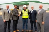 Simon Rhodes of Rhodes CRE with Illuminating Investments director David Aspland, Roland Whittington, project director at Aston Barclay and Illuminating Investments directors Michael McDonnell and John McDonne