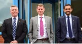 Warranty Group Damian Tyler, Philip Nelson and David Robertson.