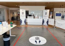COVID-19 safety measures at Waylands Automotive showroom