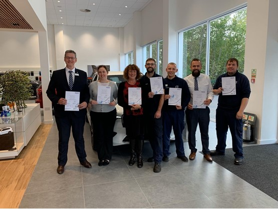 Waylands Automotive group's team of first aiders