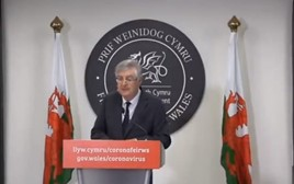 Welsh First Minister Mark Drakeford makes his COVID-19 address today