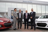 New owners (left to right): Koichi Yoshida, director at VT Holdings, with Steve Patch exiting chairman at Wessex Garages; Keith Brock, managing director at Wessex Garages and Tim Bagnell, managing director and chief executive officer of VT Holdings.
