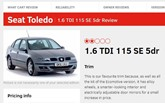 Seat Toledo print screen What Car