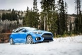 Ford Focus RS in the snow