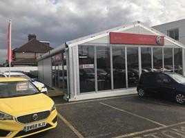 WLMG Group's new MG Motor UK showroom at Eastcote, Ruislip