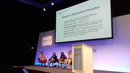The panel at Automechanika Birmingham's Women in Automotive Innovation debate