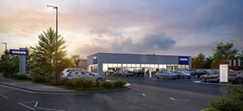 Work has started on new Volvo showroom