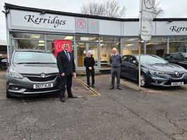 Matthew Huke-Jenner, managing director of Mitchells, with Chris (centre) and Mark Kerridge