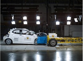 Toyota Yaris in Euro NCAP crash testing