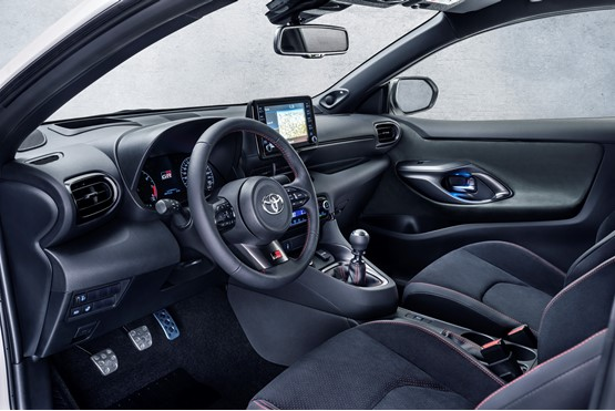 Inside the new, high-performance Toyota Yaris GR hatchback