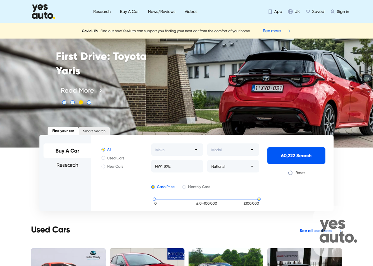 Yesauto Launches Online Car Buying Platform Supplier News