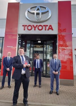 Vantage Toyota York celebrates its Ichiban award win
