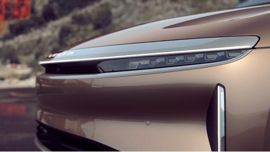 Detail: Lucid Motors' Lucid Air electric vehicle (EV)