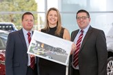 Shelbourne Motors' Richard Ward, sales director; Caroline Willis, finance director (centre) and Paul Ward, sales director.