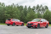 The new Skoda Octavia VRS hatchback and estate