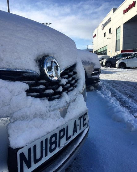 Snow Delivers Icy Challenge To Car Dealers On 18 Plate