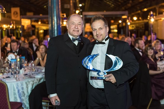 Paul Williams, chief executive of SsangYong Motor UK, with Darren Cox of Witham Vehicle Solutions