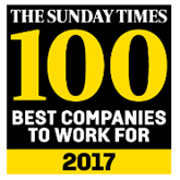 The 2017 Sunday Times Best 100 Companies To Work For logo