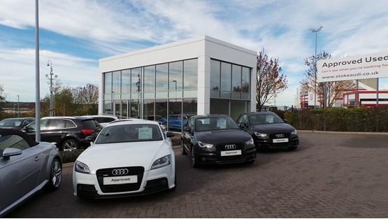 Swansway's Stoke Audi used car 'pod'