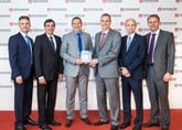 Burrow Toyota Barnsley collect their Toyota Motor Europe Ichiban award in Rome