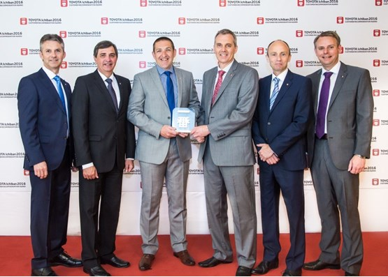 Burrow Toyota Barnsley collect their Toyota Motor Europe Ichiban award in Rome
