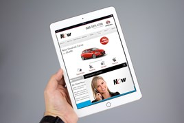 Now Vauxhall's website incorporating Vee24 live chat technology on an iPad