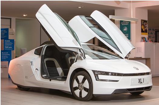 Volkswagen XL1 with the doors open