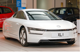 Front three-quarter view of the Volkswagen XL1 in 2015