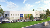 Volvo training centre Daventry artist's impression