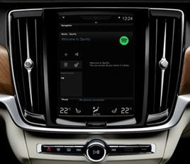 Volvo Spotify integration 2016