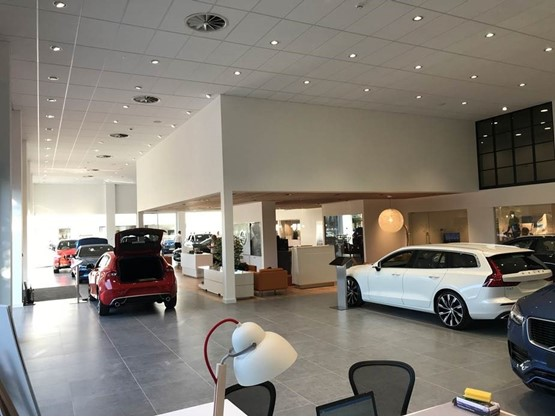 Waylands Automotive's Oxford showroom