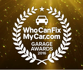 WhoCanFixMyCar 2016 Garage Awards logo